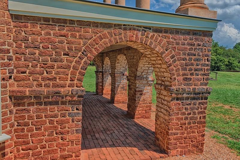 Poplar Forest south portico  brick work