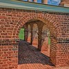 Poplar Forest south portico  brick work