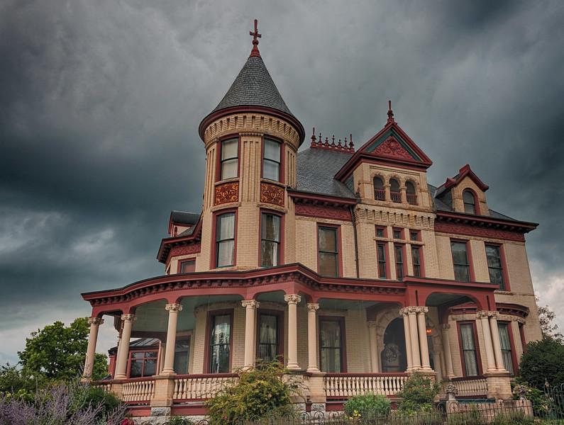Gathering Storm -- Baroque home, N. New Street, Staunton