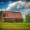"Barn with emergency ""escape ladder.""  Virginia Hwy 20."