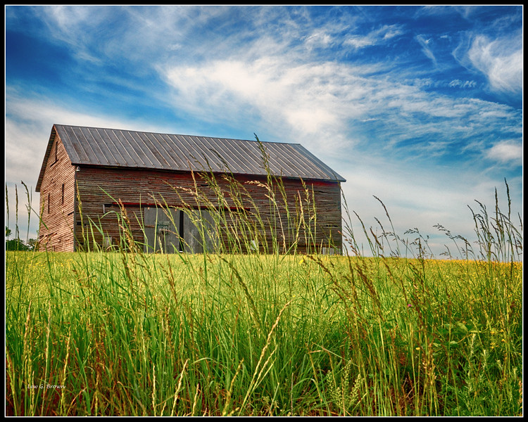 Grass and Barn, Highway 33