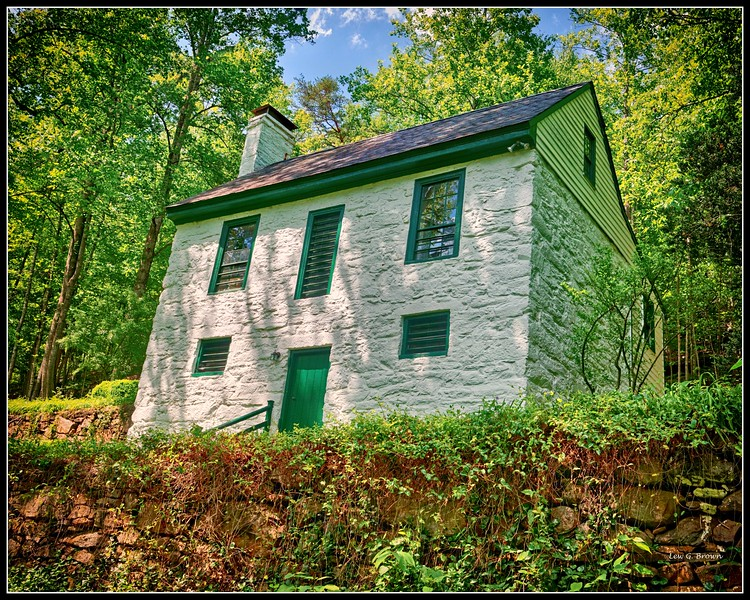 Cocke's Mill Miller's House (circa 1820).  VA Highway 712 (Plank Road)