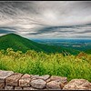 View of Shenandoah Valley looking west from Riprap Overlook on Skyline Parkway