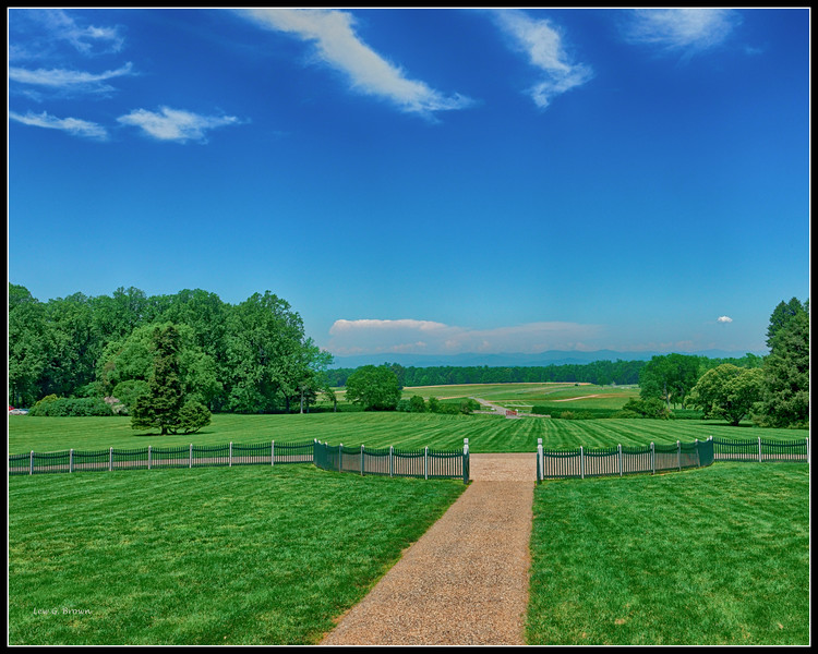 View from Front Porch of James Madison's Home, Montpelier