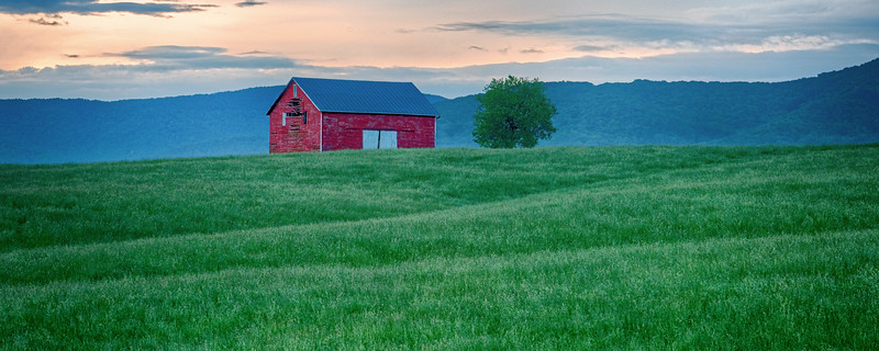 Red Barn at first light, Hwy. 33