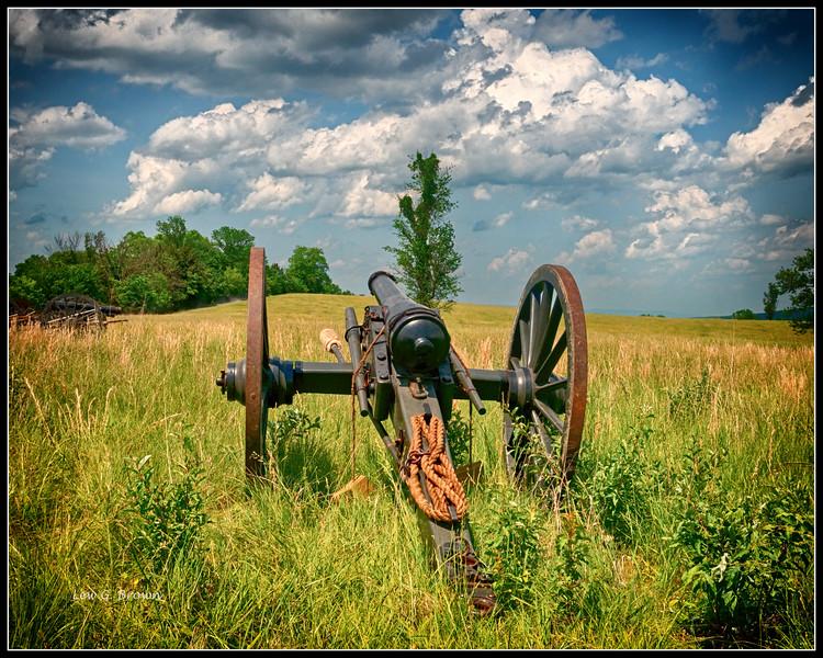 Cannon on Bushong Farm waiting for battle reenactment