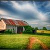Barn and wagon, Highway 33