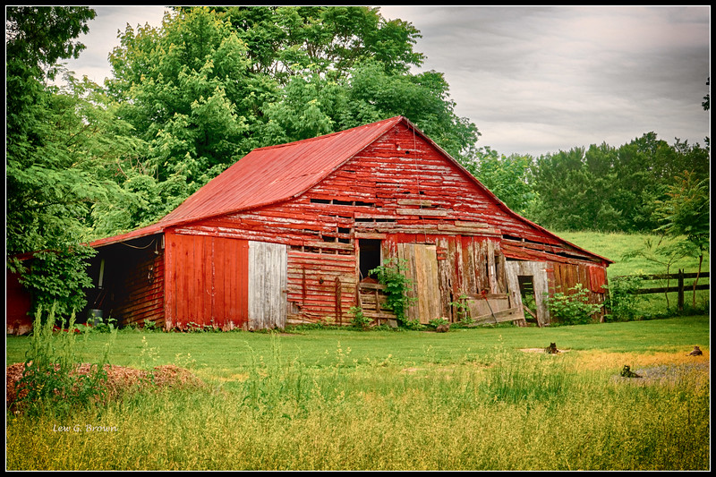 """Red Barn with """"Guard Cats,"""" Highway 29"""