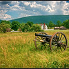 Cannon with Bushong farm in background