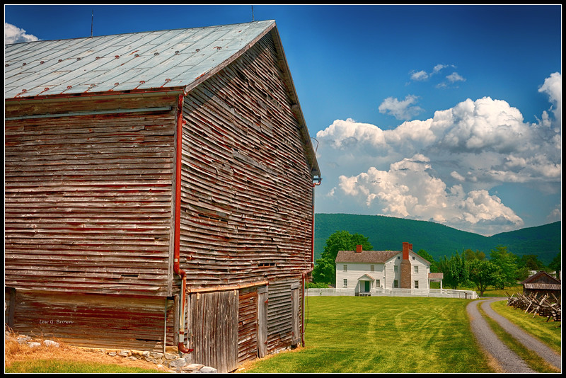 View of Barn and Bushong Homeplace