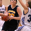 Photo by Chris Martin<br /> Rachel Krathwohl is swarmed by Tipton defenders Saturday during the Regional Semifinal