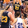 Photo by Chris Martin   <br /> Shenandoah's Abby Roeder shoots a 3 during the Regional Semifinal game against Tipton Saturday.