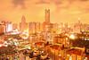 Dongmen and Diwang under a golden night sky