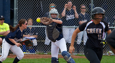 Skip Traynor - Special to the Sun The Shepherd baseball and softball teams played doubleheaders at home against Bullock Creek to determine the conference champions Tuesday, May 13, 2014. The girls split their contests while the boys dropped their doubleheader.