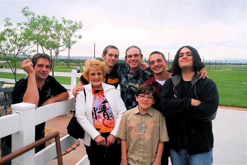 At the Mixer at Garduno's:  Mom with Jim, Josh, John, Jordan, Konner and Kenni