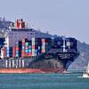 Hanjin Monaco entering San Francisco Bay 2013