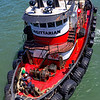 Sagittarian prepares to pull Jeremiah O'Brien away from its berth.  San Francisco 2013