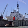 Coast Guard cutter Alex Haley in dry dock at Oakland 2013