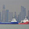 Sea Spark & Go Phoenix anchored in Singapore 2013