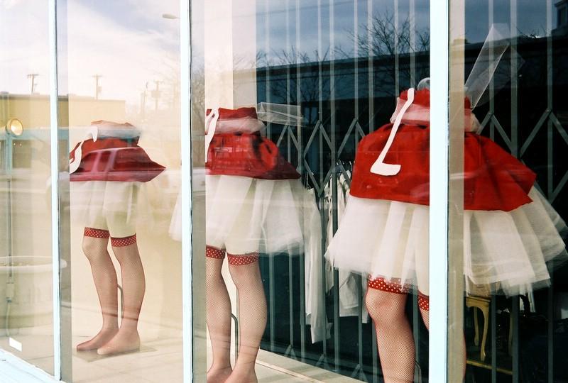Three topless women. ( Fed 50/3.5 on Bessa L)