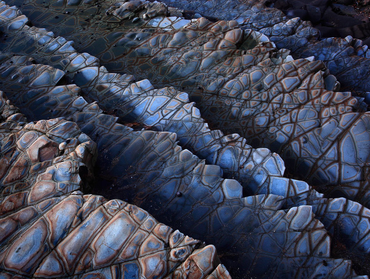 Shale Strata Abstract Palos Verdes California