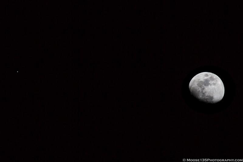 The Moon and Jupiter