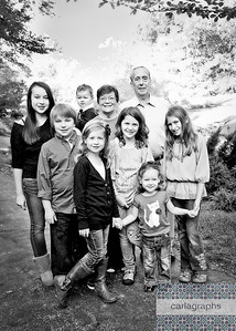 Kids with Grands bw (1 of 1)