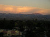 Looking east across the nearby shopping area towards Mount Hamilton (Lick Observatory just visible on top).<br /> (From top level of Oakridge Shopping Center parking garage.)
