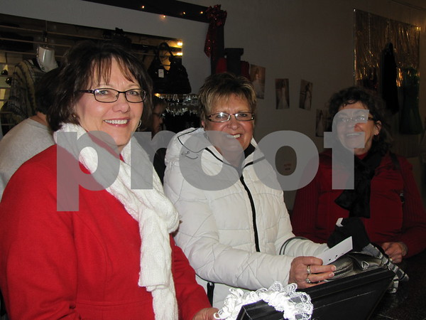 Susan Busch, Donna Siemer, and Merrily Dixon shopping on Sister Saturday.