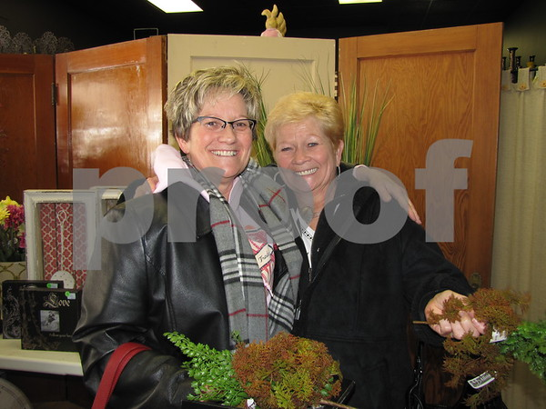 Sisters Betty Ann Schmitz of Boone and Bonnie F. Miller of Fort Dodge got together for a fun day of shopping on Sisters Saturday.