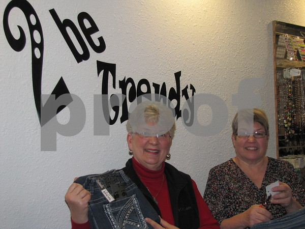 Ann McBride and Marsha Mullins of '2 Be Trendy' in downtown Fort Dodge.