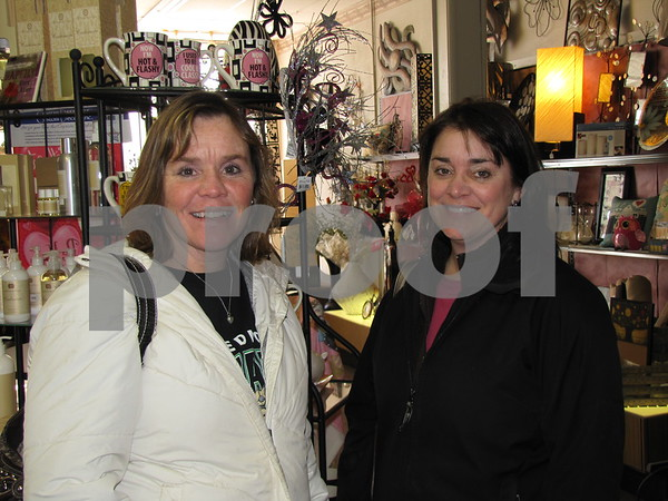 Sheila Huebsch and Ann Barkley shopped during Sister Saturday in downtown Fort Dodge.