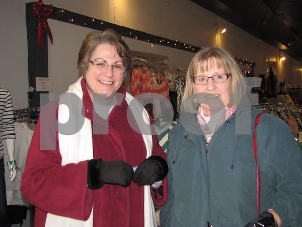 Janet Simmons and Glenda Juilfs shopping on Sister Saturday.