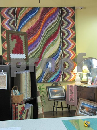 One of the beautiful quilts on display at 'Tillies Quilts'.