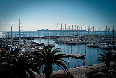 Quiet port of Hyères in the Var, French Riviera, France