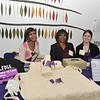 Philadelphia's strongest advocate for victims of domestic violence, Women Against Abuse, rolls out the purple carpet for the city's top culinary women at their annual Dish It Up! fundraiser and food competition last night at Moore College of Art. The food must be cooked with purple in mind, as purple is the color representing Women Against Abuse. Above Staci Robinson, Gwen Ward and Maggie Blaich