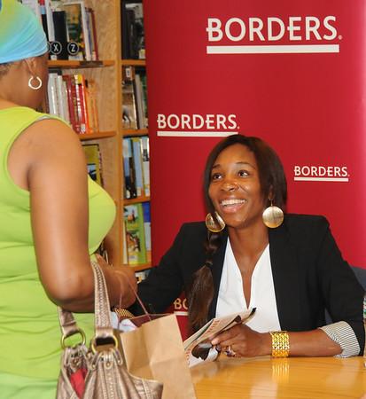Venus Williams at Borders