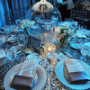 Brian Kappra and Evantine Design transform the elegant Rittenhouse Hotel with dazzling décor of glitter silver and blue.  The room was drop dead gorgeous as only Evantine Design can do.