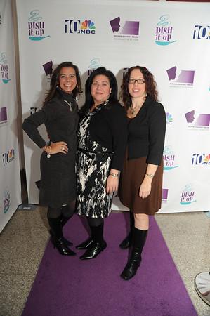 On the purple carpet I found Alicia Patete, Tina Longenecker and Jenn Grenn,