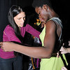 """of Pamela Ptak, the Drexel fashion instructor & Season 7 of """"Project Runway,"""" contestant.  She had her show on Friday night at the Armory. adjusting a  Wilhelmina Philadelphia model right before they hit the runway.  She seemed to be really happy and was really telling everyone how beautiful they were."""