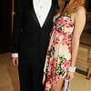 Tim Pestell and Nora Homsi make a colorful duo at the gala.