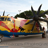 """Grumman C-2A Greyhound wearing a paint scheme commemorating 50 years of service of the Fleet Logistics Support Squadron 40 (VRC-40), also known as the """"Rawhides"""""""