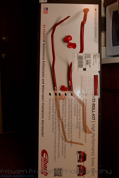 The Eibach Sway Bars have arrived!  Looking VERY COOL :-)