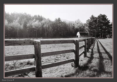 Fence and Barn New Hempshire, USA