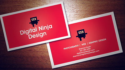 Our Shiny Red business cards :)