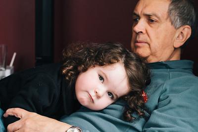 Grandad and his Sleepy girl