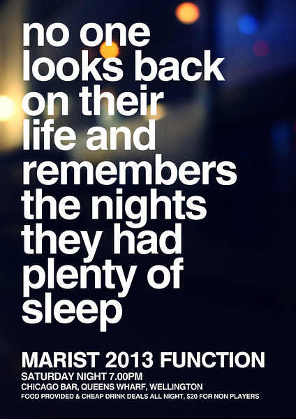 No one looks back....Up all night!