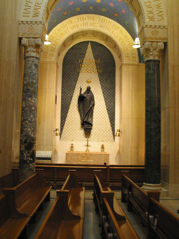 St. Dominic gets a side chapel in the Our Lady of the Rosary chapel.