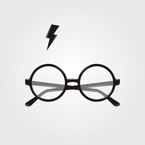 Round glasses and lighting