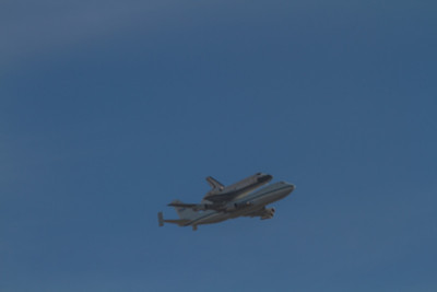 Shuttle Flying Over